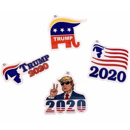 $enCountryForm.capitalKeyWord Australia - Trump Publicity Car Sticker Fashion US President Trump 2020 Poster Creative Home Garden Stickers Wall Decor 4styles RRA1563