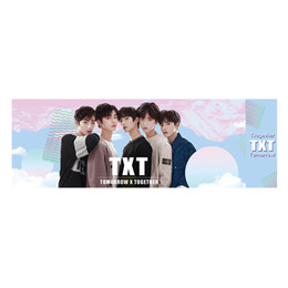 Stationery SetS online shopping - K pop TXT Concert Support Hand Banner Fabric Hang Up Fan s Gift Stationery Set