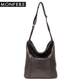 c796f26d841 MONFERE Genuine Leather Messenger Bag Women Luxury Handbags Women Bags  Designer Sheep Leather Large Casual Ladies Shoulder Bags #193686