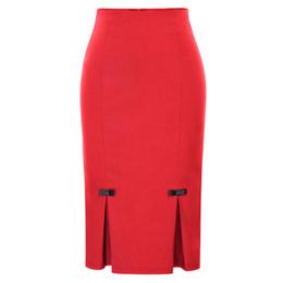 4f05dba09b Sexy Slim Pencil Women Skirt 2018 New High Quality Fashion Casual Stretch  Bodycon Midi Pencil Skirt Ol Ladies Bottom Red Y19043002
