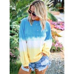 $enCountryForm.capitalKeyWord NZ - Women Rainbow Hoodie Fashion 2019 New Arrival Autumn Luxury Hoodies Casual Gradient Color Womens Plus Size Tops Clothes Size S-5XL