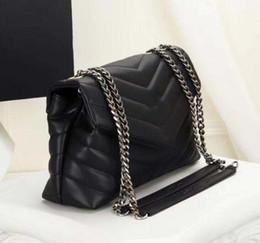 $enCountryForm.capitalKeyWord NZ - Saint Original sheepskin Genuine Leather Shoulder Bags Designer Handbags high quality Luxury Handbags Flip cover Silver chain women bags