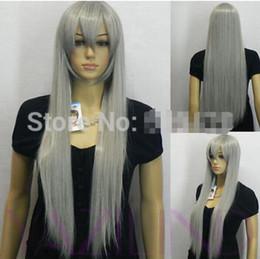 $enCountryForm.capitalKeyWord Australia - FREE SHIPPING ++ new women grey straight long synthetic cosplay party ladies hair wig fancy dress