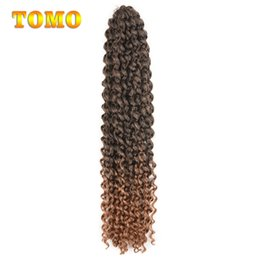 $enCountryForm.capitalKeyWord NZ - TOMO Passion Twist 18inch Long Synthetic Curly Braids Ombre Black Brown Blonde Crochet Hair Bluk 22Strands pc Woman Braiding Hair Extensions