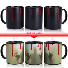 $enCountryForm.capitalKeyWord NZ - Novelty Gifts Halloween Magic Mugs,Temperature Changing Cup,Color Chameleon Mugs Heat Sensitive Cup Coffee Tea Milk Mug