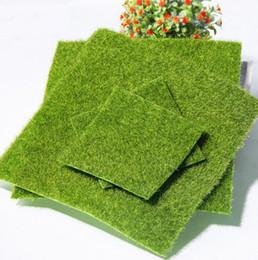 Decor Ornament Australia - Artificial Grass Fake Lawn 49*70 30*30cm 15*15cm Fairy Garden Miniature Gnome Moss Terrarium Decor Miniature Ornament Garden Dollhouse H230