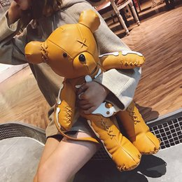 $enCountryForm.capitalKeyWord NZ - Amazing2019 The Violence Woman Bag Winter Little Bear Both Shoulders Package Tide Leisure Time Personality Human Skeleton Backpack