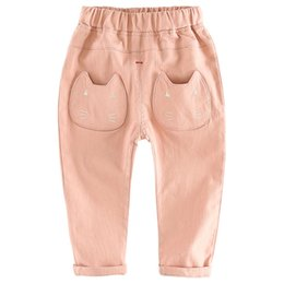 $enCountryForm.capitalKeyWord Australia - Baby Pants Spring Clothing Fashion Model Pants Cartoon Cat Baby Trousers Kid Wear Cotton Baby Girl Pants