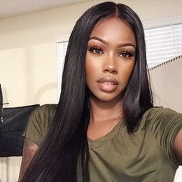 color weaving hair 2019 - 10A Brazilian Straight Human Hair Extensions with Lace frontal Virgin Hair Weave 4Bundles Virgin Human Hair Bundles Whol
