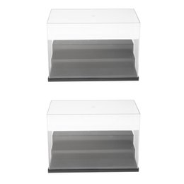 Wholesale 26x13x16cm Acrylic Model Display Case Anti Dust Protection Display Three tier Box For Figures Pack of