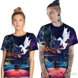 T Shirt Digital Printing Sport Australia - Fashion design 2019 new men and women couples night light white digital printing sports quick-drying T-shirt wild short-sleeved round neck s