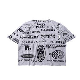 $enCountryForm.capitalKeyWord Australia - 2019 Best Quality Pleasures Full Logo Printed Women Men T shirts tees Hiphop Streetwear Men Cotton Short SLeeve T shirt 001