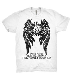 a44b5eaa1 Supernatural T Shirt Winchester Brothers Hunters Team Sam Dean Bobby Family  TV Funny free shipping Unisex Casual Tshirt top