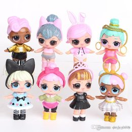 High Quality Plastic Figures Australia - 9 cm Doll Unpacking High-quality Dolls Baby Tear Open Color Change Egg LoL Doll Action Figure Toys Kids Gift