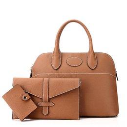 High End Hand Bags NZ - Fashion Portable Composite Bags Three Pcs Bags Per Set Classic Simple Shoulder Bag High End Quality Women Hand Bags