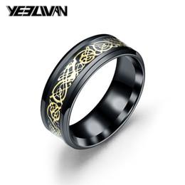 $enCountryForm.capitalKeyWord Australia - Vintage Dragon Rings for Men Women Fashion Wedding Rings Stainless Steel Black Punk Wholesale