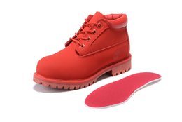 Wholesale BUY FASHION CHUKKA BOOTS ONLINE TIMBER BRAND ALL RED WATERPROOF WORK SHOES OUTLET DISCOUNT CHUKKA SHOES ON SALE SHIPPED FREE WITH BOX