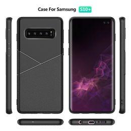 42b1a464a35 Fundas de teléfono celular de diseño de cuero premium TPU para Samsung  Galaxy S10 Plus A40 A50 A80 Huawei Y9 Prime 2019 Xiaomi 9 cubiertas de PU