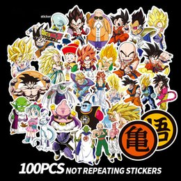 nursery room wall stickers 2019 - 100pcs set Dragon Ball Z Graffiti Sticker not repeating Luggage DIY stickers cartoon PVC Wall stickers kids gift toys ba