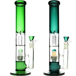 "bong perc color Australia - 14"" tall real color glass bong water pipe with wax quartz banger herb bowl dab rig oil rigs percolator bongs perc pipes smoking Accessories"