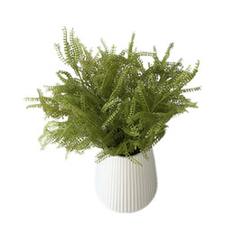 Tree Branches UK - 1pc lot 2018 New Design Artificial Tree Branch Evergreen Cypress Spray Simulation Fern Bouquet Free Shipping