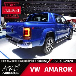 drl accessories UK - Tail Lamp For Car VW AMAROK 2010-2020 amarok LED Tail Lights Fog Lights Day Running Light DRL Tuning Cars Accessories