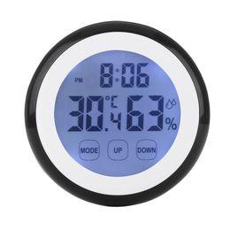 $enCountryForm.capitalKeyWord Australia - Plastic Digital Temperature Humidity Time Function Wall Clock Indoor Weather Station Meter Tester LCD Backlight Clocks