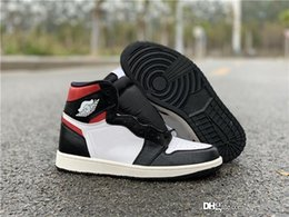 best canvas sneakers for men 2021 - 2019 Air High OG 1 Gym Red Retro Black Toe White Sail Not For Release Best Men Basketball Shoes Authentic Sneakers Sports 555088-061
