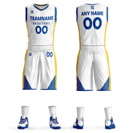 $enCountryForm.capitalKeyWord NZ - Custom Mens Basketball Jersey Sets DIY Uniforms Kits Boys Sports Clothing Dwyane Wade Whiteside Breathable Customized College Team