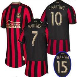 53fe70754 new 19 20 Men Atlanta United Red White 2019 2020 MLS Custom team Jersey  Escobar Martínez Almiron villalba football shirt uniform top