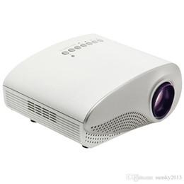 Mini Portable Projector For Laptop UK - Mini Portable Projector 1080P HD LED LCD Projectors RD802 Multi-Media Player HDMI   VGA   USB  SD   AV Home Theater Cinema for iPad Laptop