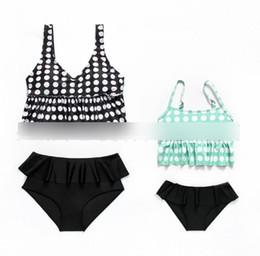 e7d70e148d6 Polka dotted bikini online shopping - Kids swimsuits child bikini swimming  kids polka dots suspender swimwear