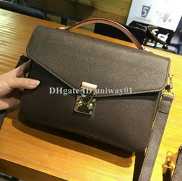 Wholesale Woman handbag Bag Date code serial number Quality Leather women purse messenger shoulder body pochette metis