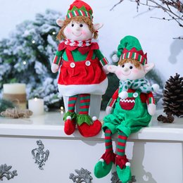 doll ornaments NZ - 2019 Christmas Decorations For Home Elf Doll Toy Kids Birthday Gift Table Decor Hanging Ornament Party Xmas Christmas Decoration