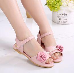 $enCountryForm.capitalKeyWord NZ - Children Shoe Sweet Kids Fashion Crochet Barefoot For Girls Summer Girl Pink Colour Baby Sandals