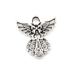 Guardian anGel jewelry online shopping - Guardian Angel Charm Pendants Antique silver Fashion Jewelry DIY Fit Bracelets Necklace Earrings x26mm A