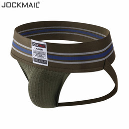 Wholesale gay sport online – Jockmail Gay Men Underwear Jockstrap Sexy Fashion Hombre Thong Men String Homme Cotton Slip Sports Panties Lingerie G String SH190726