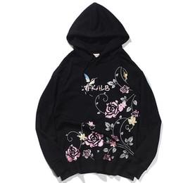 $enCountryForm.capitalKeyWord NZ - US Size Japan Style Rose Embroidery Hoodie Men Women Streetwear Harajuku Floral Embroidered Hoodies Autumn Male Women DG165