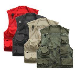 $enCountryForm.capitalKeyWord Australia - Ultralight Fishing Vest Warm Quick-Drying Mesh Vest Tactical Camping Vest Outdoor Men Waistcoats with Multi Pocket