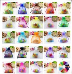 Gift Wrapping Organza Australia - free shipping 100pcs lot 9x12cm Organza Gift Bags Jewelry Packing Drawable Christmas Wedding Gift Bags Pouches Packaging Bags