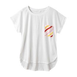 Womens Pocket Tees Australia - female T-shirt 2019 new arrival Womens Summer Short Sleeve O Neck Pockets Casual white Tee Shirt Top slim soft touch T-shirts