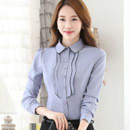 4babe6af7f9 New Style Formal Ladies bluzki damskie Blouse Women Tops Slim White camisas  mujer Office Blusas plus size Shirt 4XL
