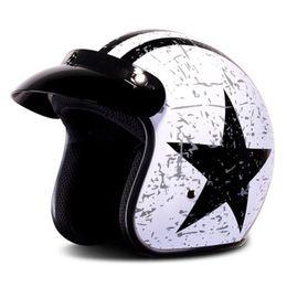 vespa moto 2019 - HOT SEll harley casco moto vintage motorcycle helmet jet capacetes de motociclista vespa cascos para moto cafe racer ope