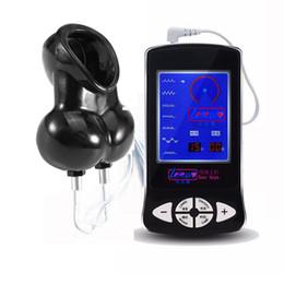 Großhandel Männlicher Elektroschock-Hodensack-Ring-medizinischer Elektroschock-Sexspielzeug-Ausrüstungen, Elektroschock-Sex-Ball-Bahre-Keuschheits-Käfig-Hahn-Ringe für Männer