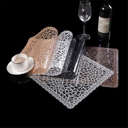 restaurant table mats NZ - Good Quality Transparent Placemat Restaurant Cafe Heat Insulation Table Mat Non Slip Table Mats Home Decoration Dinner Placemat