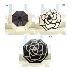 $enCountryForm.capitalKeyWord UK - Classic pattern Camellia Flower logo Umbrella For Women with gift Box And Bag Rain Parasol Sunshade Rain Umbrella Blooming camellia MMA1702