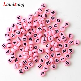 $enCountryForm.capitalKeyWord NZ - Alphabet Beads Acrylic Wood Bead Letters DIY Letter Beads For Bracelet Pacifier Clip Accessories For Jewelry Mixed