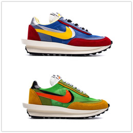 Nuovo Sacai LD Waffle Uomo Sport Air Running Shoes Donna Running Shoes LD Waffle Sacai Blu Multi Sneakers Verde Multi Trainers 36-45 Con Box on Sale