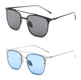 f94fbba2253 2019 New Fashion Men Women Retro Square Large Frame Marine Lens Sunglasses  Unisex Korean Jelly Metal Glasses S1929