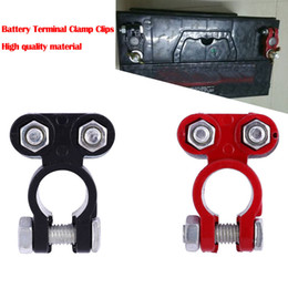 Discount batteries connectors - New 2 Pieces Automotive Car Boat Truck Battery Terminal Clamp Clip Connector High quality thick aluminum alloy joint